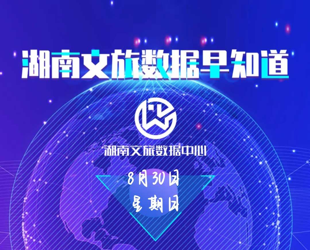湖南文旅数据中心:湖南文旅数据早知道(8月30日)