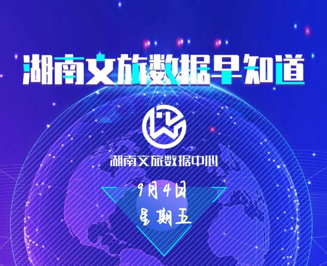 湖南文旅数据中心:湖南文旅数据早知道(9月4日)