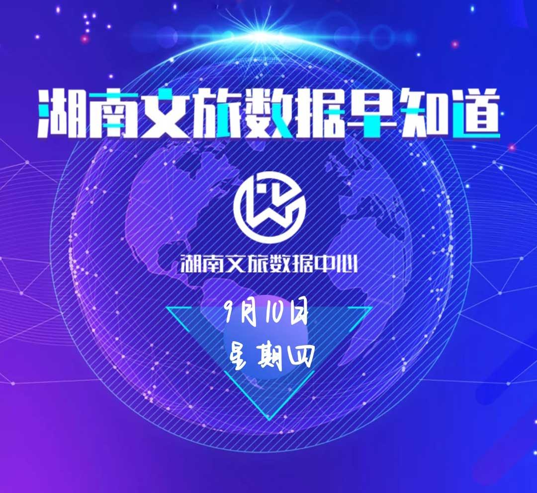 湖南文旅数据中心:湖南文旅数据早知道(9月10日)
