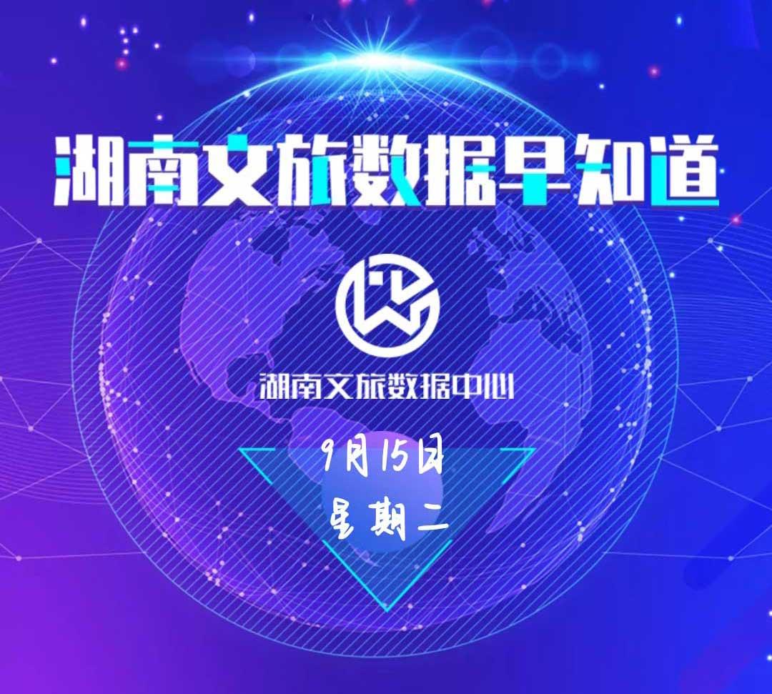 湖南文旅数据中心:湖南文旅数据早知道(9月15日)